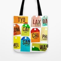 Travel Tags Tote Bag