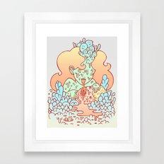 nom nom Framed Art Print