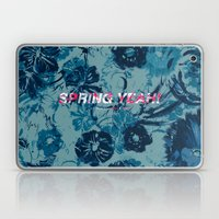 Spring Yeah! - Blue Flowers Laptop & iPad Skin