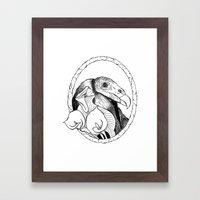 Mr. Vulture Framed Art Print