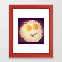 smiley egg Framed Art Print