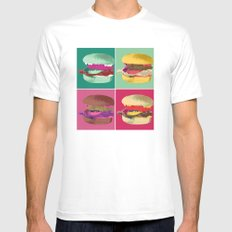 Pop Art Burger #2 Mens Fitted Tee White SMALL