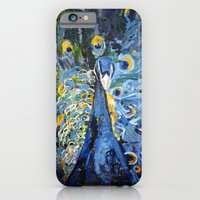iPhone & iPod Case featuring Blue Peacock  by Eternal