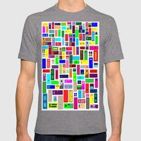 Doors - White Mens Fitted Tee Tri-Grey SMALL