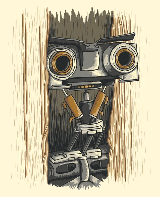 Here's Johnny 5! Canvas Print