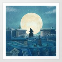 Rooftoppers - square format  Art Print