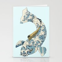 Koi japanese fish number two Stationery Cards
