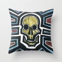 Sovereign Skull Throw Pillow