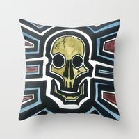Sovereign Skull Throw Pillow
