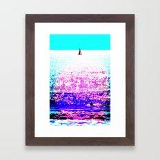Sailboat and Swimmer (2d) Framed Art Print