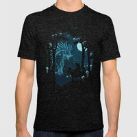 Forest Spirit Mens Fitted Tee Tri-Black SMALL