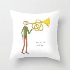 blow the horn you've got Throw Pillow