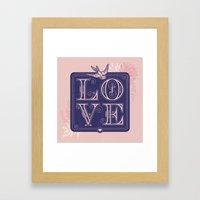 love type swallow Framed Art Print