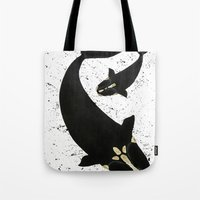 Right Whales From Above Tote Bag
