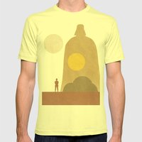 A New Hope Movie Poster Mens Fitted Tee Lemon SMALL