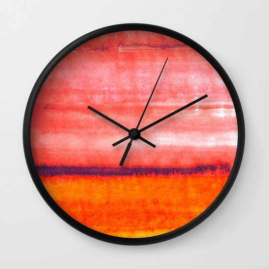 Summer heat Wall Clock