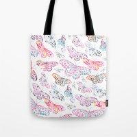 Marbling Butterflies Tote Bag