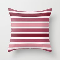 Dusky Pink Berry Stripes Throw Pillow