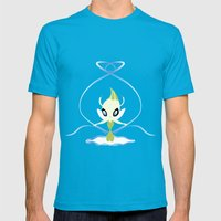 #251 Celebi ~ NATURE Mens Fitted Tee Teal SMALL