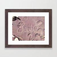 Love in the Sand Framed Art Print