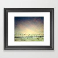 BARBWIRE BLUES Framed Art Print