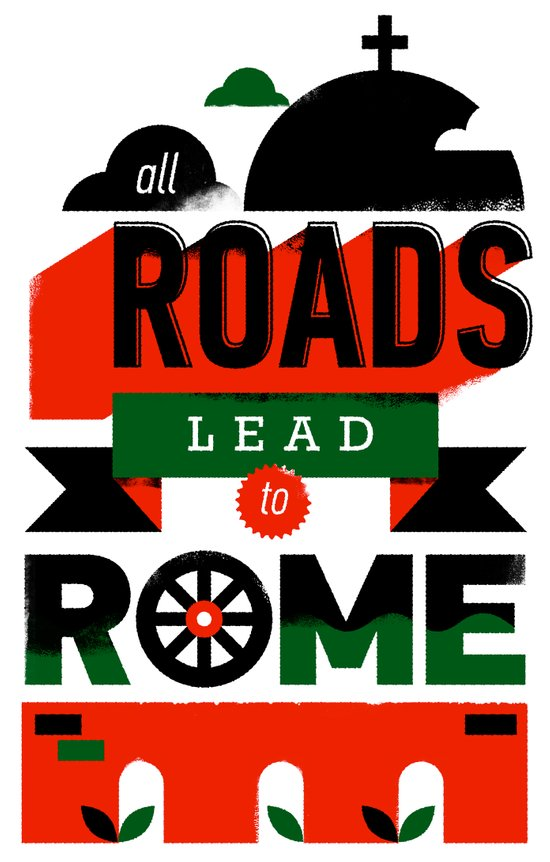All Roads Lead to Rome Art Print