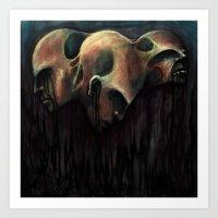 See Evil, Hear Evil, Spe… Art Print