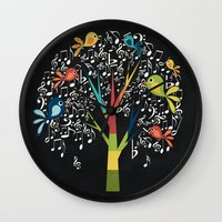 Song Birds Wall Clock