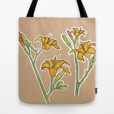 Orange lilies Tote Bag