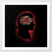 Sam's Phrenology Art Print