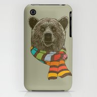 Winter Bear iPhone (3g, 3gs) Slim Case