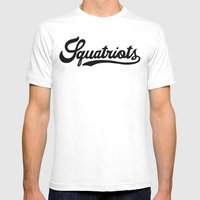 Squatriots Mens Fitted Tee White SMALL