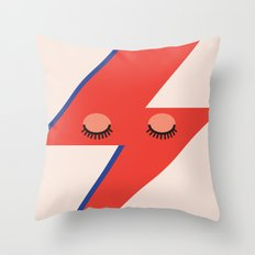 Music Minimals - David Bowie Throw Pillow
