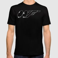 Mr. F (b) SMALL Mens Fitted Tee Black