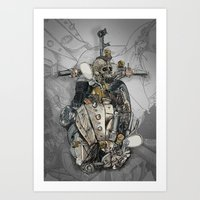 CROSS ENGINE Art Print