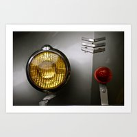 Car Lights Art Print
