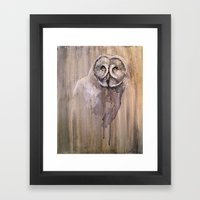 Great Grey Owl Framed Art Print