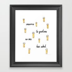 Presumptuous Presciption Framed Art Print