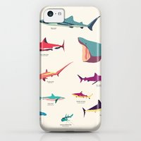 iPhone 5c Cases featuring Sharks by Simon Alenius