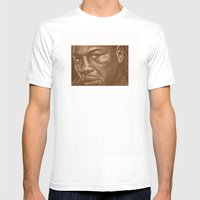 Round 9..lenox Lewis Mens Fitted Tee White SMALL