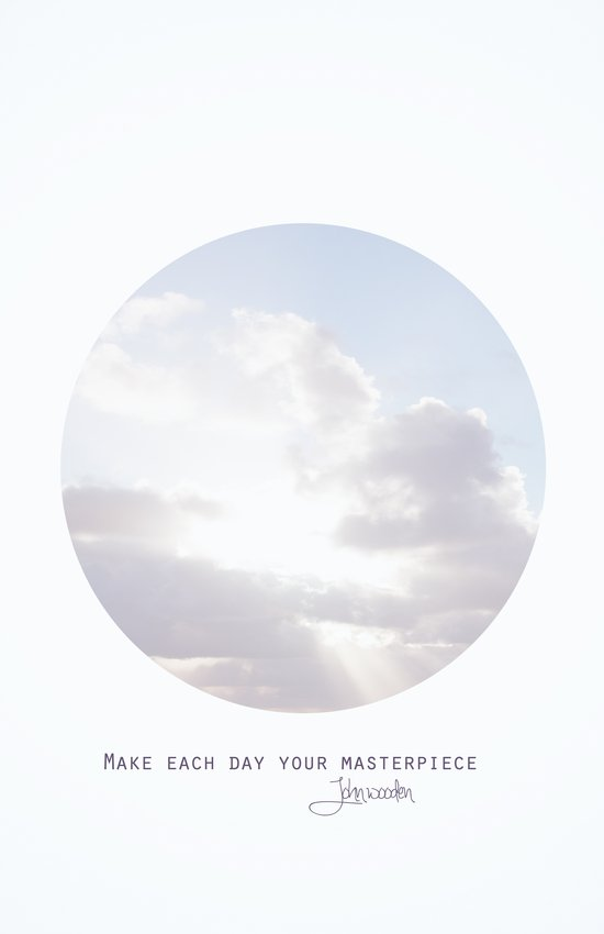 Make Each Day Your Masterpiece I Canvas Print