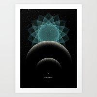 BLUE DWARF Art Print