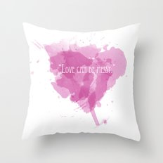 Love can be messy Throw Pillow