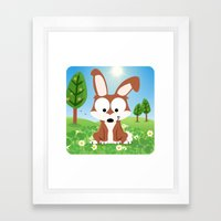 Woodland Animals Series II.  Hare Framed Art Print