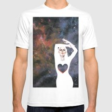 Love is infinite as the Cosmos SMALL Mens Fitted Tee White