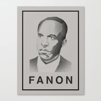 Fanon (Monochrome) Canvas Print