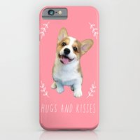 Corgi Hugs and kisses iPhone 6 Slim Case