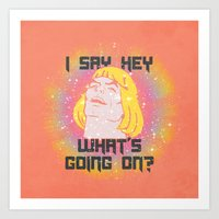 HEY MAN Art Print