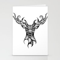 Henna Inspired Stag Head… Stationery Cards