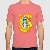 Evil Little Bunny Mens Fitted Tee Pomegranate SMALL